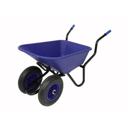Bullbarrow Bronco Duo Wheelbarrow  1 wheelbarrow (blue)