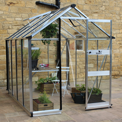 Eden Burford 68 Greenhouse FREE Staging Shelf 1 x Greenhouse in Black (3mm horticultural glass)