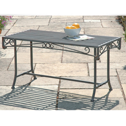 Versailles Steel Coffee Table  1 table (antique grey)