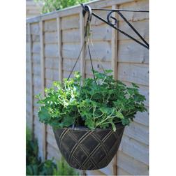 Lattice Hanging Basket with Hanger  2 baskets