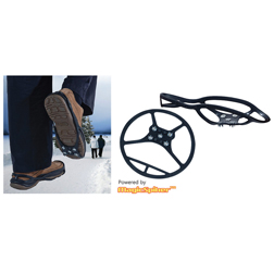 Ice & Snow Shoe Grippers - 1 pair of snow grippers for shoe sizes 3-6 Van Meuwen