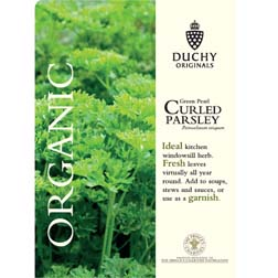 Parsley 'Green Pearl' - Duchy Originals - 1 packet (800 seeds)