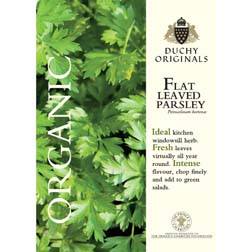 Parsley Flat Leaved - Duchy Originals - 1 packet (800 seeds)