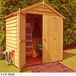 Shire Overlap Apex Double Door Shed  1 double door shed (7 x 5)