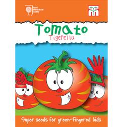 Tomato 'Tigerella' (Mr Stripey) - RHS Garden Explorers Children's Seeds - 1 packet (50 seeds)
