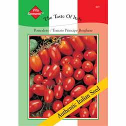 Tomato 'Principe Borghese' - Vita Sementi® Italian Seeds - 1 packet (600 seeds)