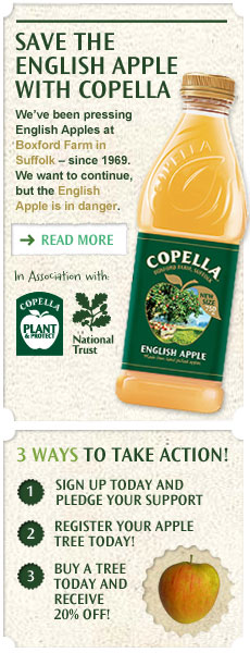 Help save the English Apple in your own garden with Copella and Thompson & Morgan – receive 20% today!